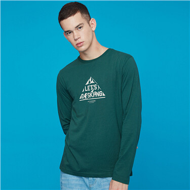 Graphic crewneck long-sleeve tee
