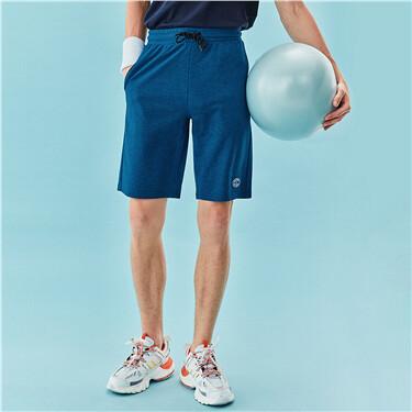 男裝素色抽繩短褲