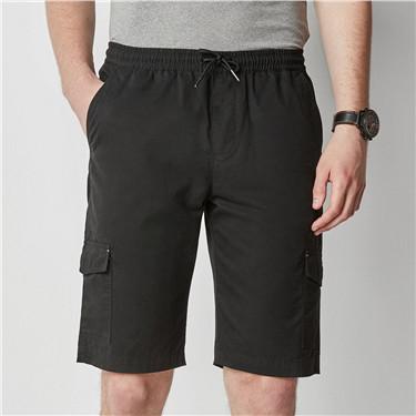 纯棉多口袋橡筋腰头休闲短裤