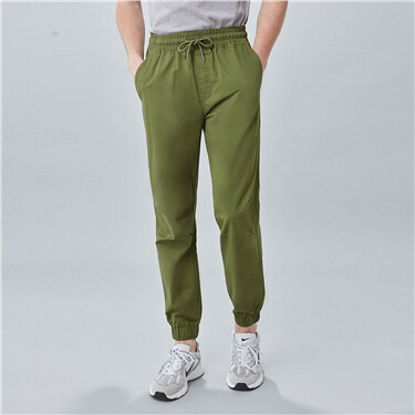 Solid lightweight cotton joggers