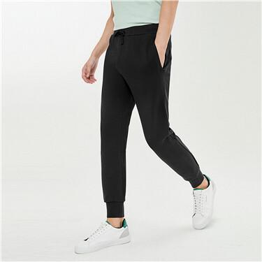 Stretchy elastic waistband joggers
