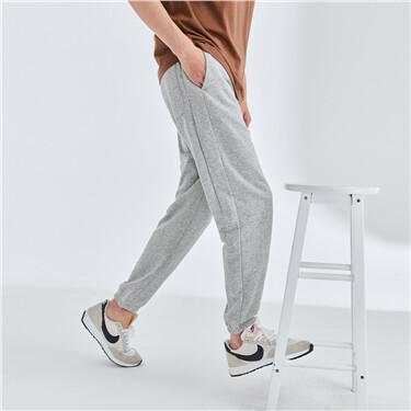 Elastic waistband drawstring joggers
