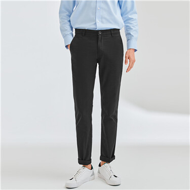 Mid-low slim fit khaki pants