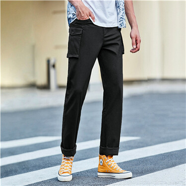Stretchy mid rise pants