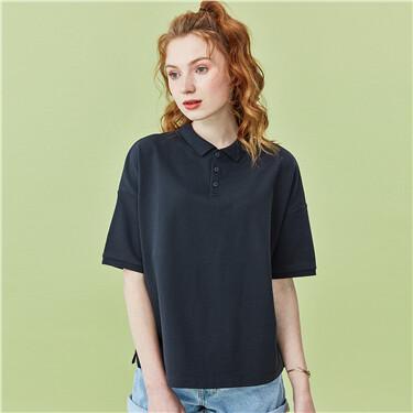 Reversible short-sleeve polo shirt