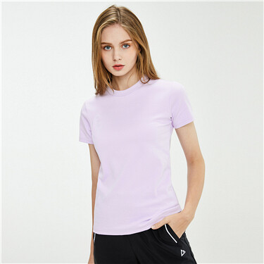 Interlock Plain Crew Neck Tee