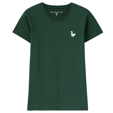 Small embroidery short-sleeve tee
