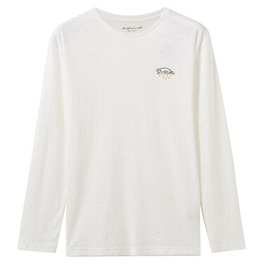Embroideried animal long-sleeve tee