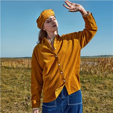 Corduroy cotton loose shirt