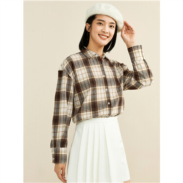 Thick flannel loose long-sleeve shirt