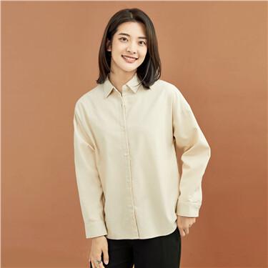 Corduroy loose long-sleeve shirt