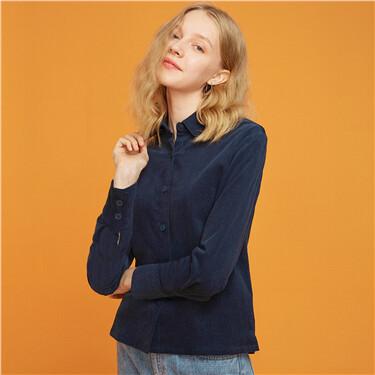 厚實燈芯絨純棉長袖襯衫