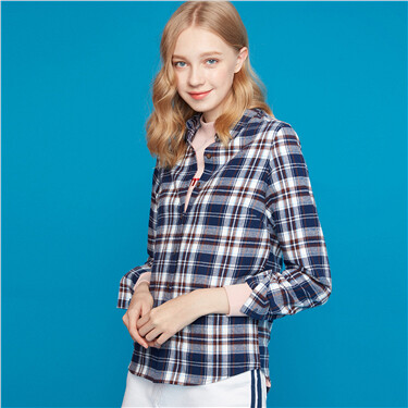 Flannel plaid long-sleeve shirts