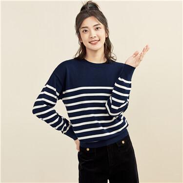 Stripe dropped-shoulder sweater