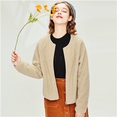 Polyester berber raglan sleeves jacket