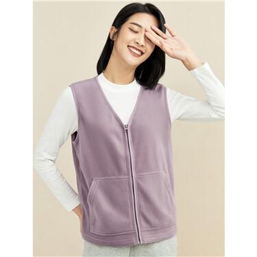 Polar fleece kanga pocket jacket vest