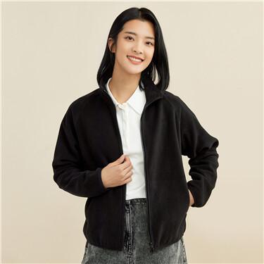 Polar fleece raglan sleeves jacket