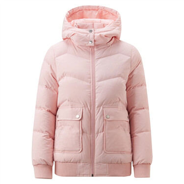 Hooded 80% down jacket