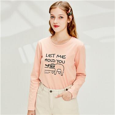女裝Joy Life印花T恤