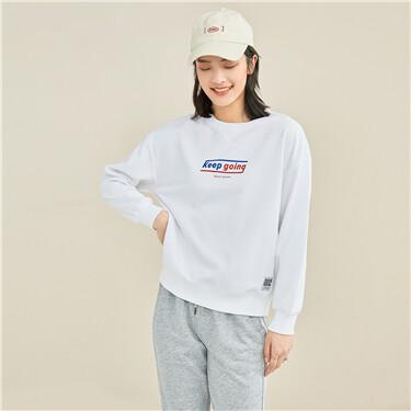 Printed loose crewneck sweatshirt