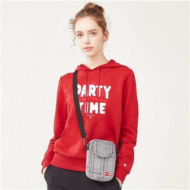 Lucky piglet series fleece hoodies