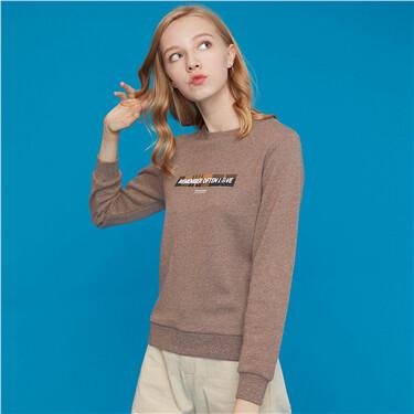 Graphic crewneck sweatshirt