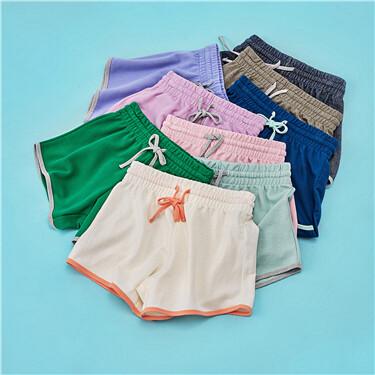 Elastic waistband shorts