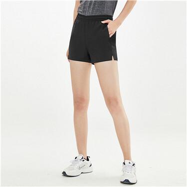 Tatting elastic waistband shorts