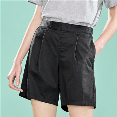 A-shaped elastic waist casual shorts