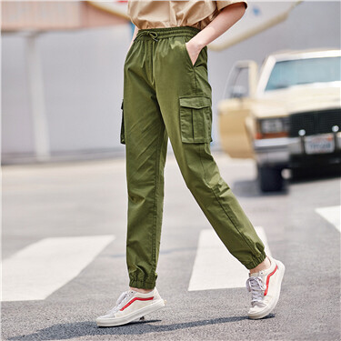 Banded cuffs cargo pants