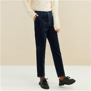 灯芯绒纯棉中腰休闲长裤