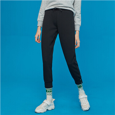 Interlock fabric joggers pants