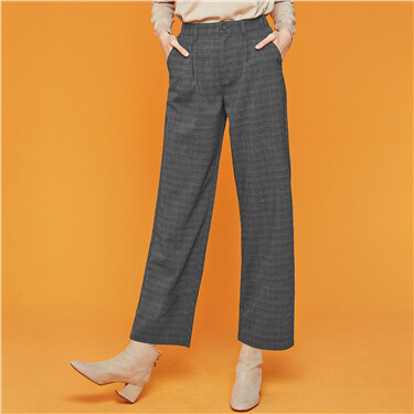 Mid rise wide legs trousers