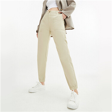 Elastic waistband casual pants