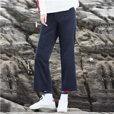Thick corduroy ankle-length pants