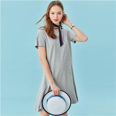 純棉A型短袖連衣裙