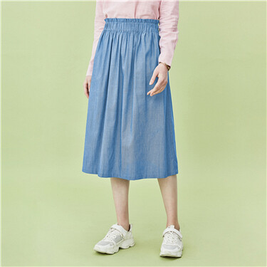 Bud elastic waist skirt