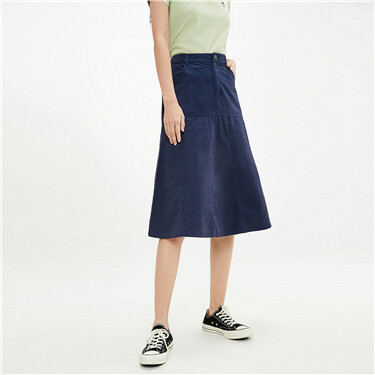 Cotton collage multi-pocket skirt