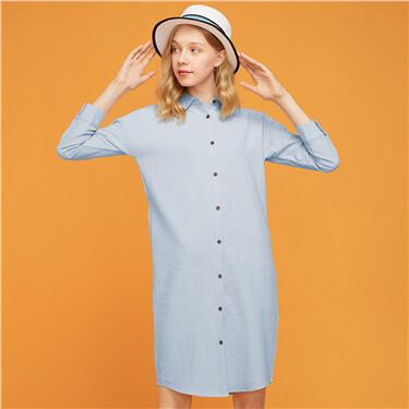 Flannel Cotton Shirt Dress