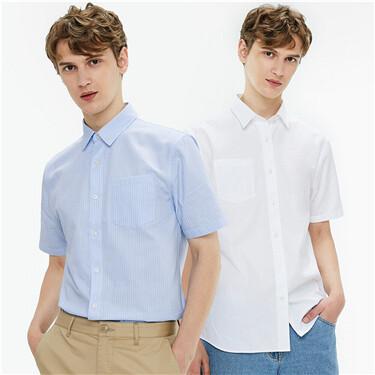 两件装修身短袖休闲衬衫