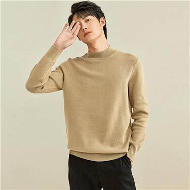 Solid color mockneck sweater