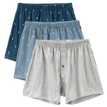 3pcs antibacterial cotton boxers