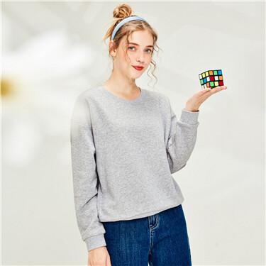 Loose crewneck sweatshirt