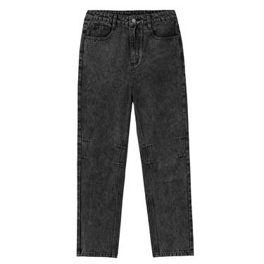经典五袋款黑色牛仔长裤