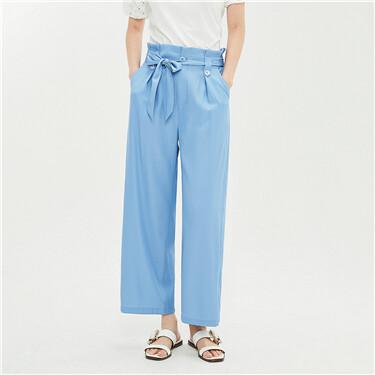 Elasitc bud waist wide Leg Pants