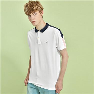 Contrast Pique Short Sleeve Polo Shirt