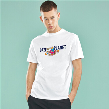 DAZE PLANET printed cotton tee