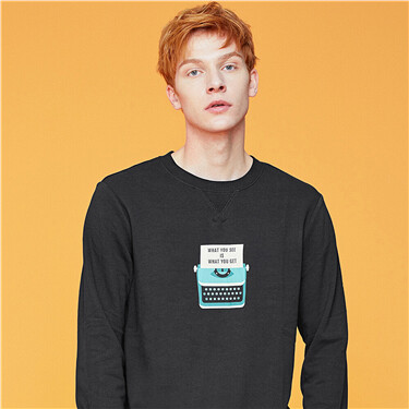 Pattern crewneck sweatshirt