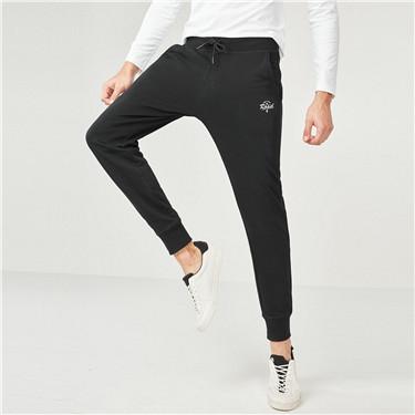 Letter drawstring jogger pants
