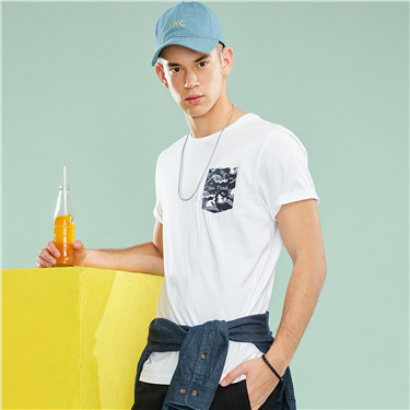 DEAR WORLD printed pocket tee